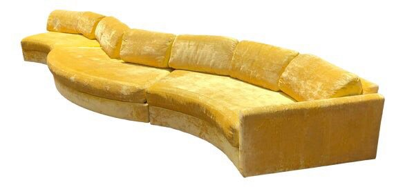 Vintage Yellow Couch