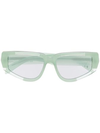 Retrosuperfuture Cathari I cat-eye frame sunglasses green SPN - Farfetch