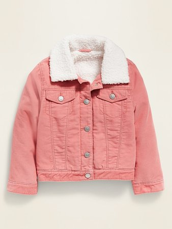 Sherpa-Lined Corduroy Trucker Jacket for Toddler Girls | Old Navy