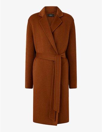 JOSEPH - Cenda wool and cashmere-blend belted coat | Selfridges.com