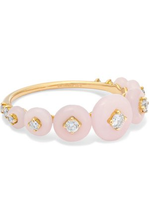 Fernando Jorge | Surrounding kleiner Ring aus 18 Karat Roségold mit Opalen und Diamanten | NET-A-PORTER.COM