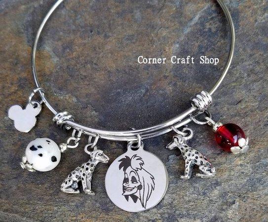 Cruella charm bracelet