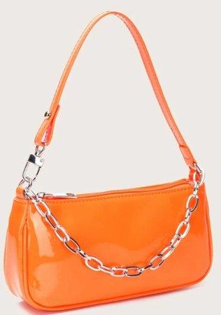 neon orange bag