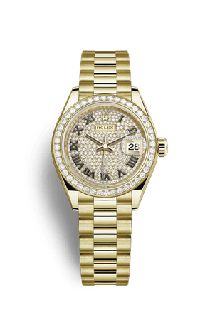 Rolex Lady-Datejust Watch: 18 ct yellow gold - M279138RBR-0029