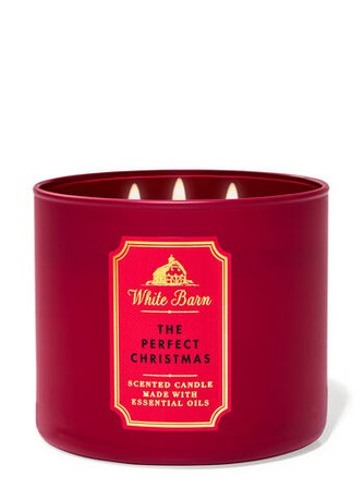 The Perfect Christmas 3-Wick Candle - White Barn | Bath & Body Works