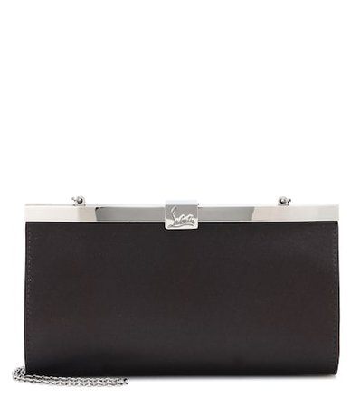 Palmette Small satin clutch