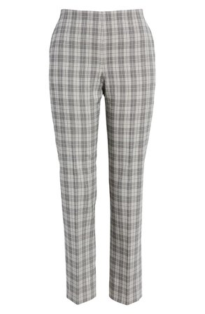 BOSS Tarera Structured Check Pants | Nordstrom