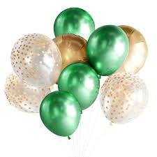 green and gold balloons - Google Search