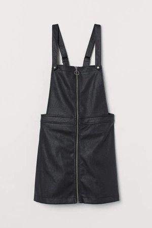 overall Dress - Black
