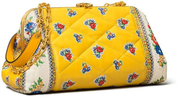 CLEO QUILTED FLORAL BAG