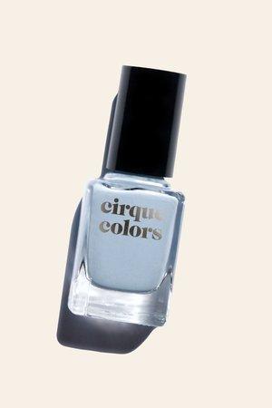 Light Blue Gray Creme Nail Polish - Cirque Colors Storm King