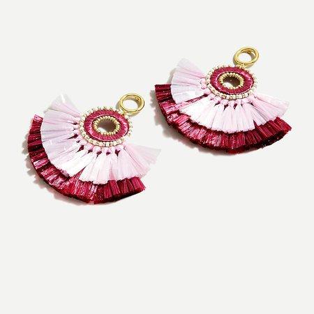 J.Crew: Raffia Fan Tassel Earrings For Women