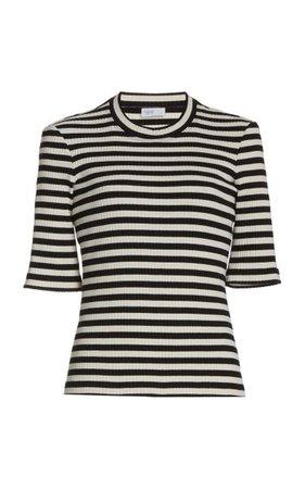 Striped Cotton-Knit Cropped T-Shirt By Rosetta Getty | Moda Operandi