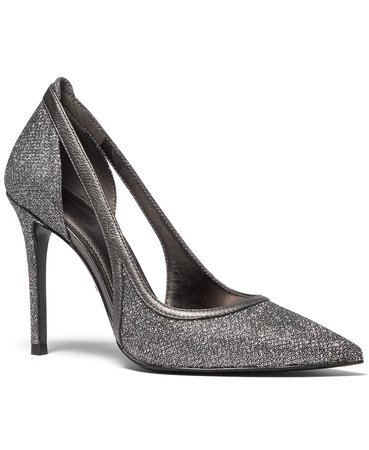silver Michael Kors Nora Metallic Pumps & Reviews - Pumps - Shoes - Macy's