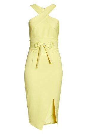 Lavish Alice Eyelet Belted Halter Dress | Nordstrom