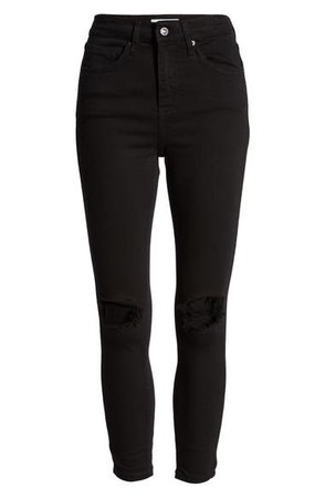 Topshop | Jamie High Waist Ripped Skinny Jeans