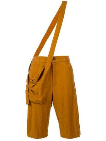 Chalayan Cross Body Strap Trousers MO300FO106 Orange | Farfetch