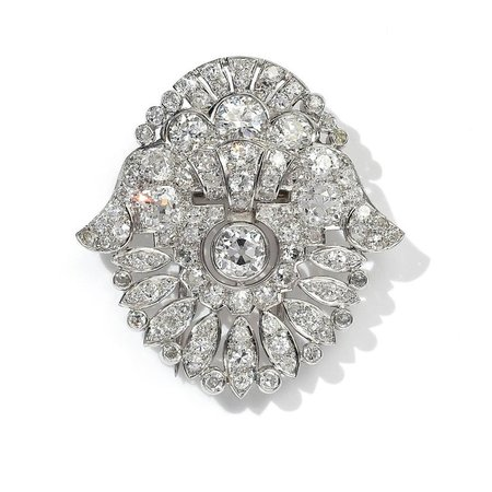 Art Deco Convertible Diamond Tiara in Platinum, Cased by Garrard For Sale at 1stdibs