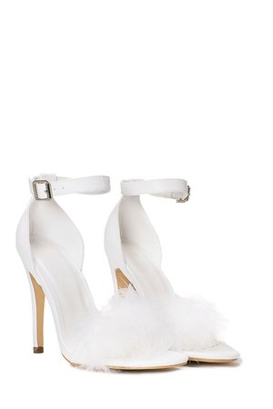 white fur heels - Google Search