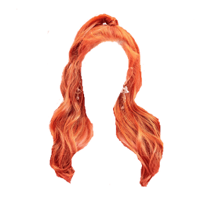 orange hair png half up