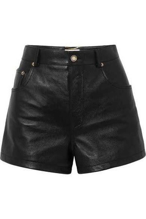 SAINT LAURENT | Embellished leather shorts