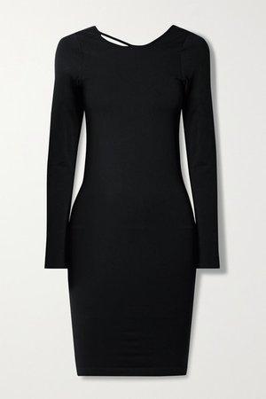 Cutout Stretch-jersey Dress - Black