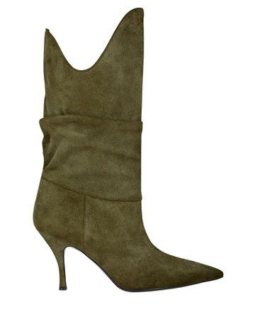 The Attico Venus Slouch Suede Boots | INTERMIX®