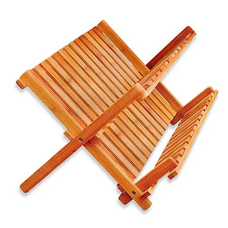 Bamboo Folding Dish Rack | Bed Bath and Beyond Canada