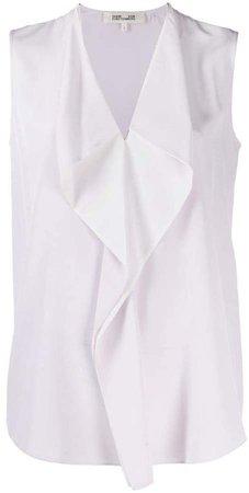 drape sleeveless blouse