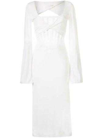 Dion Lee sheer-panel Midi Dress - Farfetch