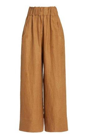 Universal Linen-Twill Wide-Leg Pants By Bondi Born   Moda Operandi