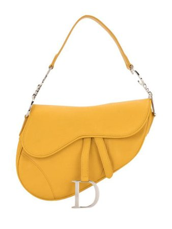 Yellow Christian Dior pre-owned Saddle shoulder bag with Express Delivery - Farfetch