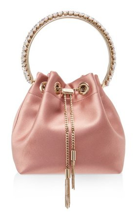 Bon Bon Embellished Satin Top Handle Bag By Jimmy Choo | Moda Operandi