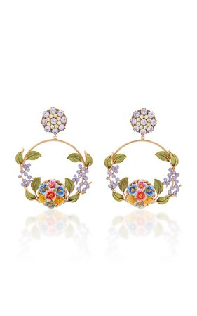 Gold-Tone, Crystal And Enamel Earrings by Dolce & Gabbana | Moda Operandi