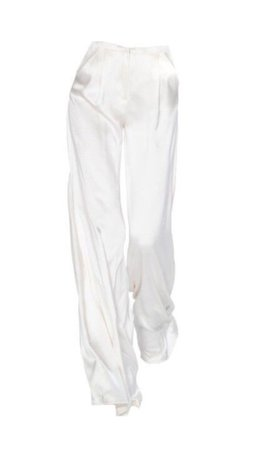 flowy satin pants