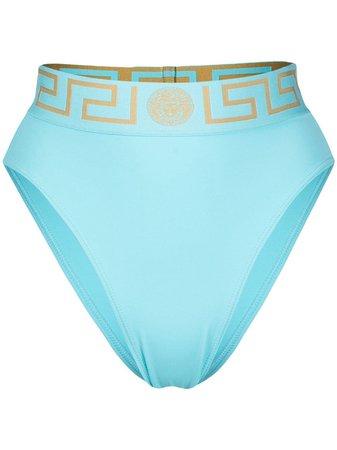 blue Versace bikini swimsuit