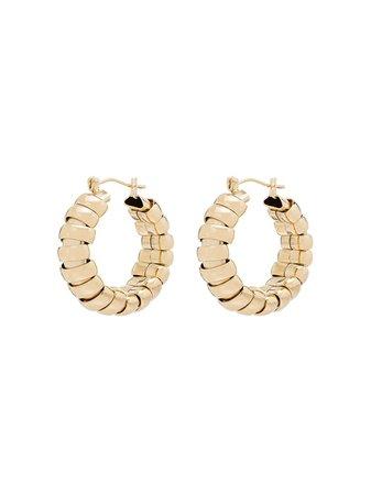Laura Lombardi 14kt gold-plated Camilla Hoop Earrings - Farfetch