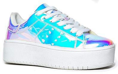 Amazon.com | J. Adams Platform Lace Up Sneaker - Casual Chunky Walking Shoe - Easy Everyday Fashion Slip On - Hero | Fashion Sneakers
