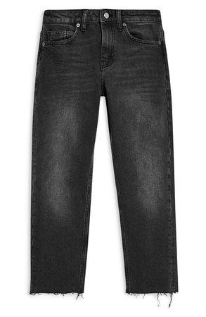 Topshop Straight Leg Jeans  black