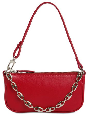 BY FAR Red Rachel Mini Handbag
