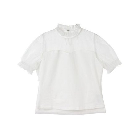 White Ruffle Shirt From BUBBLES ONLINE STORE