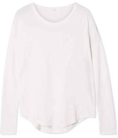 Hudson Slub Stretch-jersey Top - White
