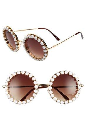 Rad + Refined Rhinestone Round Sunglasses | Nordstrom