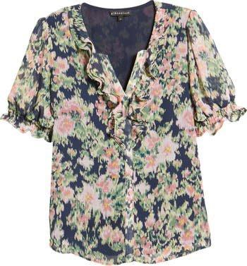 GIBSONLOOK Floral Ruffle Top   Nordstrom