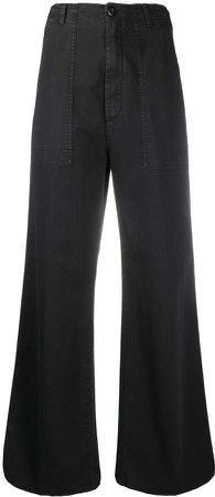 high-rise wide-leg trousers