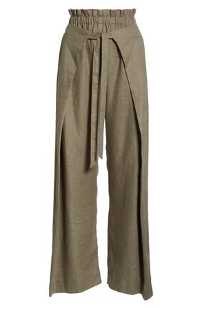 Cult Gaia Pajah Linen Pants | Nordstrom