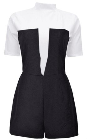 Playsuit Black and White