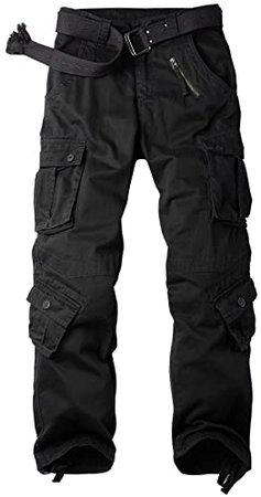 OCHENTA Men's Casual Military Cargo Pants, 8 Pockets Work Combat Outdoor Trousers at Amazon Men's Clothing store