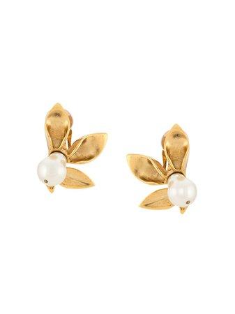 Oscar De La Renta Flower Pearl Earrings - Farfetch