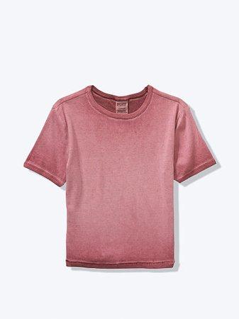 Short Sleeve Baby Tee - PINK - pink
